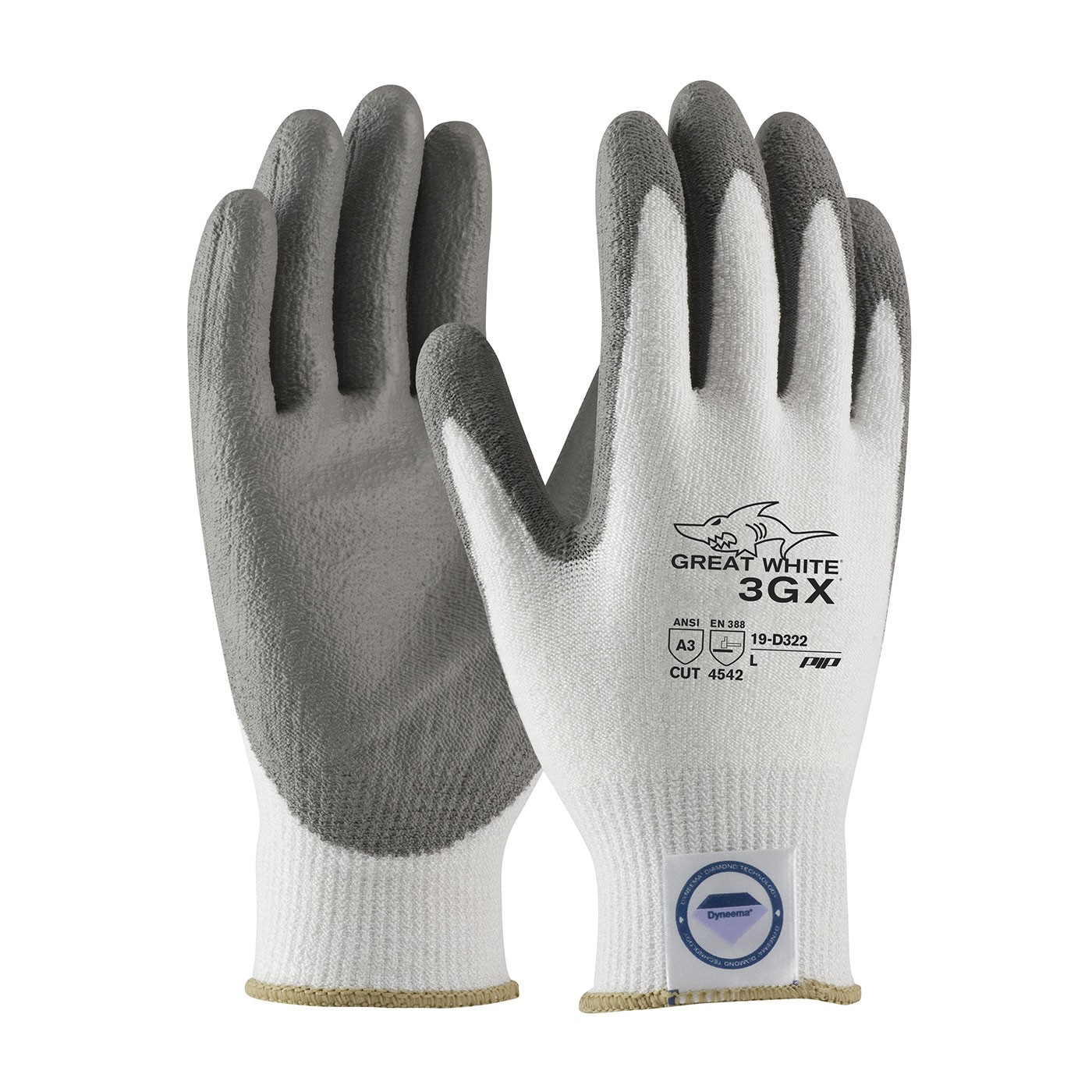 PIP 19-D322 Great White 3GX Seamless Knit Dyneema Diamond Lycra Gloves