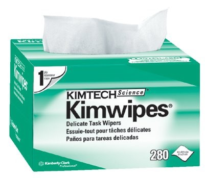 "4.5""X8.5"" WHITE KIM WIPES EX-L 1-PLY 280/BOX"