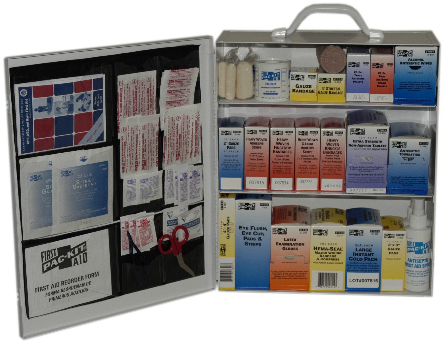 Pac-Kit 6155 Three Shelf First Aid Station