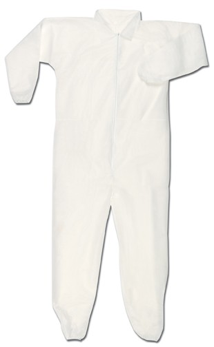 MCR Safety Polypropylene, Coverall W/Zipper, Open Sleeves and Ankles 25-Case