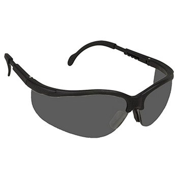 Cordova EKB20S Boxer Black Safety Glasses, Gray Lens, Extendable Temples