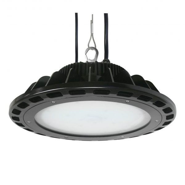"Litetronics 185W HB185B140DL 16"" Dimmable LED UFO High Bay 24,000 Lumens 4000K Black"