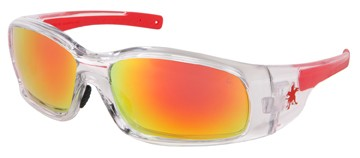 Crews Swagger MCR SR14R Safety Glasses, Clear Frame, Fire Mirror Lens