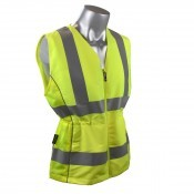 Radians SVL1 Type R Class 2 Contoured Ladies Safety Vest Hi Viz Lime