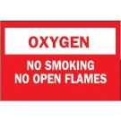 "BRADY 10""X14"" FIBERGLASS OXYGEN NO SMOKING SIGN"