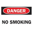 "BRADY 10""X14"" NO SMOKING SIGN (STICKER)"