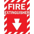 BRADY FIRE EXTINGUISHER SIGN (STICKER)