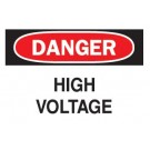 "BRADY 10""X14"" DANGER HIGH VOLTAGE SAFETY SIGN(STICKER)"