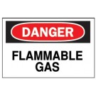 "BRADY FIBERGLASS 10""X14"" DANGER FLAMMABLE GAS SIGN"
