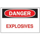 "BRADY 10""X14"" FIBERGLASS DANGER EXPLOSIVES SIGN"