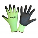 Cordova Safety 3713 Cor-Tex Lime 13 Gauge Cut Resistant Gloves, ANSI Cut Level 2