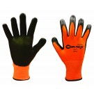 Cordova Safety 3714 Cor-Tex Orange 13 Gauge Cut Resistant Gloves, ANSI Cut Level 2