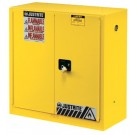 Justrite Yellow Safety Cabinets for Flammables 30 GAL CAB SC W/PDLE HNDL