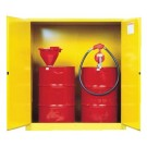 Justrite Yellow Safety Cabinets for Flammables 110G CAB MAN YL FLAM DDRM EX