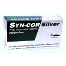 Cordova Safety 4062 Syn-Cor Silver Vinyl Powdered Disposable Gloves