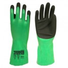 Cordova 6942 Tandem Chem Green/Black Nitrile Glove Sandy Finish Palm 12""