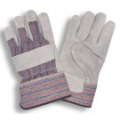 Cordova Safety 7200R Leather Palm Gunn Pattern, Rubberized Cuff Gloves