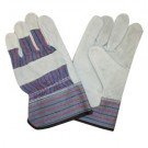 "Cordova Safety 7250XXXL/6 Striped Canvas, Shoulder Leather Palm, 2.5"" Gauntlet Cuff Gloves"