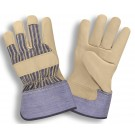 Memphis Gloves 8300 Natural 12 oz. Cotton Canvas Gloves, Clute Pattern, Knit Wrist