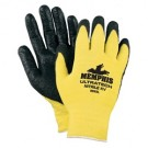 Memphis 9693 UltraTech Nitrile KV Coated Palm Gloves - Nylon - 13 Gauge - Yellow/Black