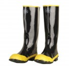 "Cordova Safety Products BST Cotton Lined 16"" Rubber Boots, Black Ribbed Soles, Black Uppers"