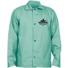 "Memphis Glove MCR Safety 39030 30"" Fire Retardant Green Cotton Welding Jacket with Inside Pocket"