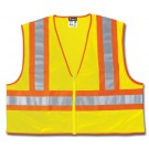 """River City MCR Safety Poly, Mesh 4 1/2"""" Orange/Silver Stripe, Limited Flammability, Lime"""