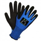 Cordova 3701 iON A2 UHMWPE Safety Glove, Sapphire, Black Sandy Nitrile Palm Coating, 13 Gauge Shell - Pair