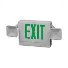 Howard Lighting HL04093GW Combo Exit-Emergency Light White Case/Housing Green Letters Lead Battery