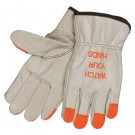 Memphis  Gloves 3213 Industry Grade Grain Cowhide Leather Drivers Gloves, Natural