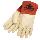 Memphis 4950 Mustang Premium Top Grain Cowhide Leather, Red MIG/TIG Welders Gloves, Vending Package