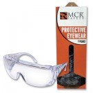 Crews 9800D Yukon Safety Glasses - Clear Frame - Clear Uncoated Lens