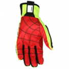 MCR Memphis PD2906 Predator Textured PU coated synthetic leather palm hi-vis lime