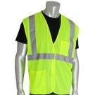 PIP 302-0702 Economy Class 2 Mesh Safety Vest with Two Pockets - Yellow/Lime