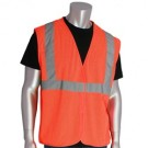 PIP 302-MVGZ Economy Class Mesh 2 Safety Vest with Zipper - Orange