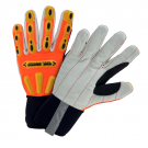 West Chester R2 Corded Palm Rigger Glove with Long Neoprene Cuff - Hi-Viz Orange 86800