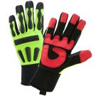 West Chester R2 LD Rigger Glove with Long Neoprene Cuff - Hi-Viz Green 86810