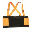 HI-VIZ ORANGE BACK SUPPORT BELT WITH ATTACHED SUSPENDERS