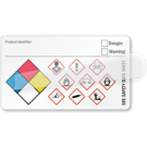 Write On Self Laminating GHS and NFPA Combo Label